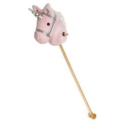 Käpphäst, rosa enhörning, 100 cm