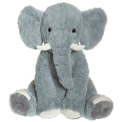 Elefant, grå, sittande 60 cm