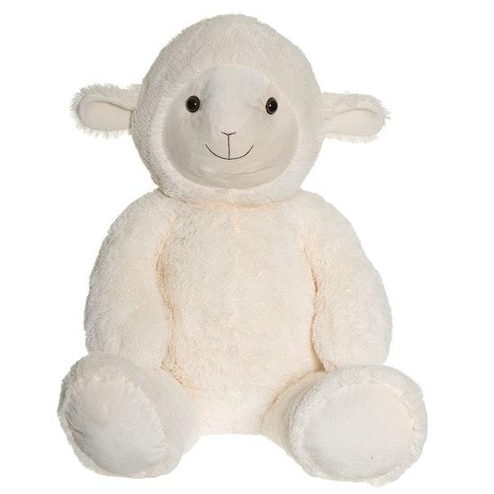 Lamm, vit, 100 cm