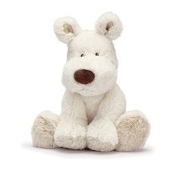 Teddy Cream Hund, liten, vit
