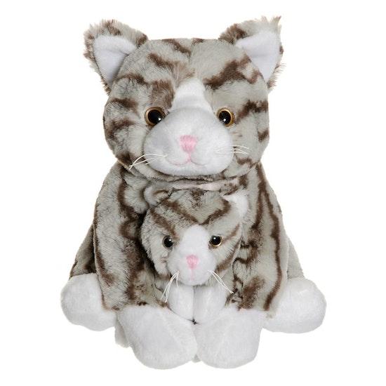 Dreamies Stor & liten, Katt Gosedjur, grå, 24 cm