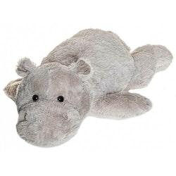 Liggande Flodhäst Gosedjur, grå, 100 cm