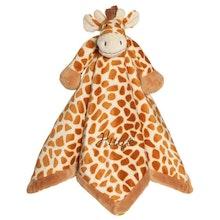 Snuttefilt med namn, Diinglisar Giraff, Beige-brun