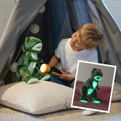 Självlysande Dinosaurie, Grön, 40cm