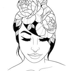 Print A4 - Woman 1