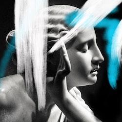 Mixed media / Print på Canvas - Street Art Statue