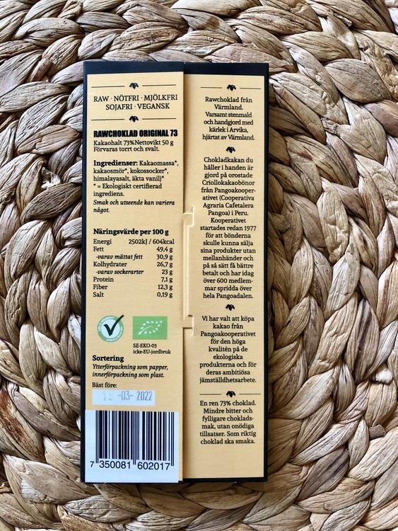 Rawchoklad Orginal 73% EKO