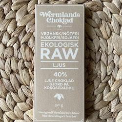 Wermlands Choklad Ekologisk Rawchoklad Ljus