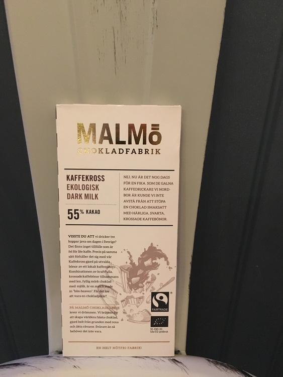 Malmö Choklad Kaffekross 55% Kakao Ekologisk