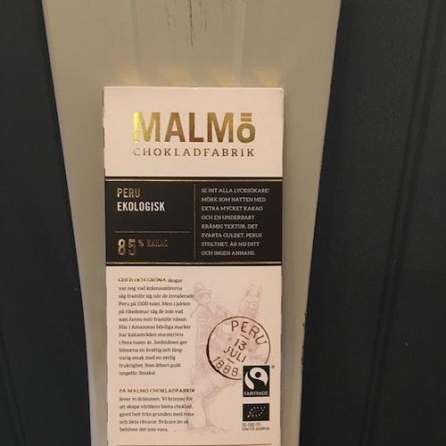 Malmö Choklad Peru 85%  Ekologisk