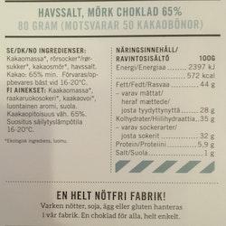 Malmö Choklad Havssalt 65% Kakao Ekologisk
