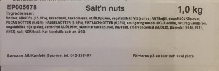 Salt´n Nuts (INNEHÅLLER NÖTTER & GLUTEN)