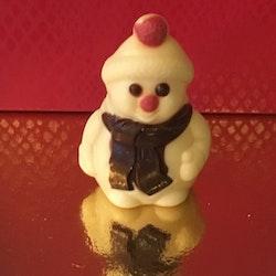 Snögubbe i vit choklad