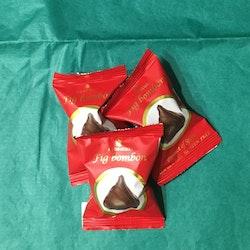 Choklad doppade Fikon