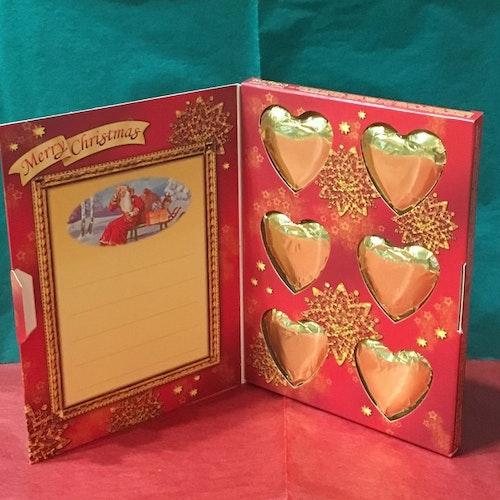 Jul vykort med choklad
