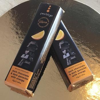 Perlege Sockerfria Mörk choklad & apelsin
