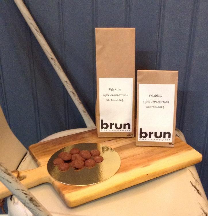 Felchlin Mjölkchoklad Pellets Sao Palme 36% Kakao   100g