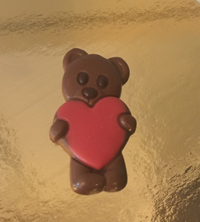 Nallebjörn med Hjärta i mjölkchoklad