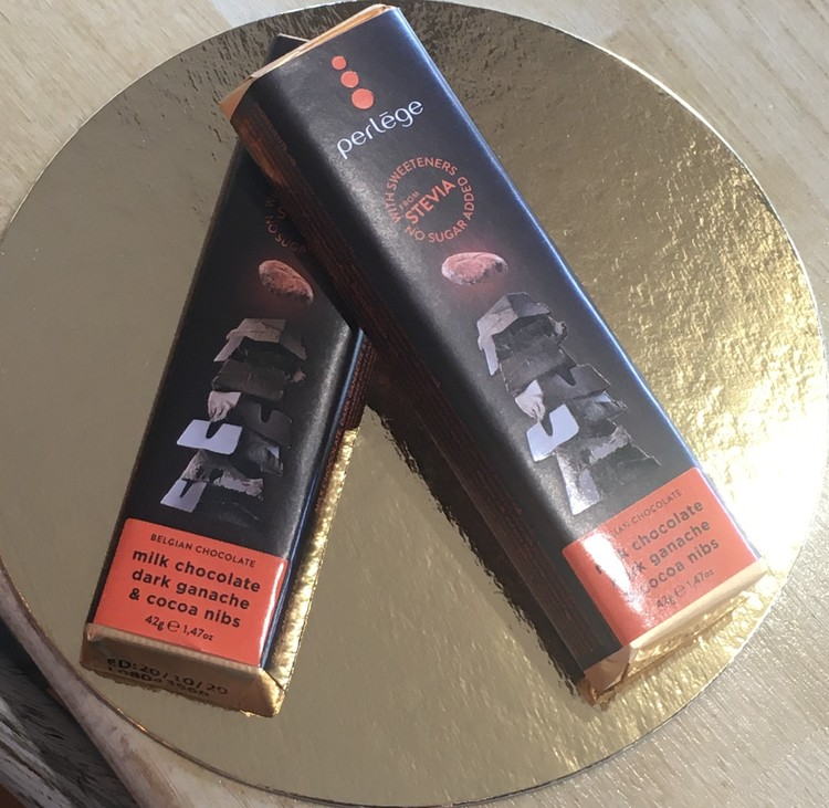 Perlege Sockerfria Mjölkchoklad dark ganache & cacao nibs