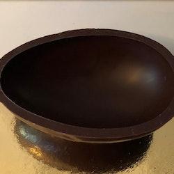 Chokladägg halvskal mörk choklad 60g (135x95mm)
