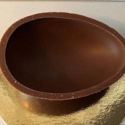 Chokladägg halvskal mjölkchoklad 60g (135x95mm)
