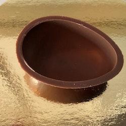 Chokladägg halvskal 17g (81x56mm) Innehåller GLUTEN