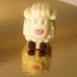 Lilla lammet, vit choklad med chokladkräm (INNEHÅLLER GLUTEN)