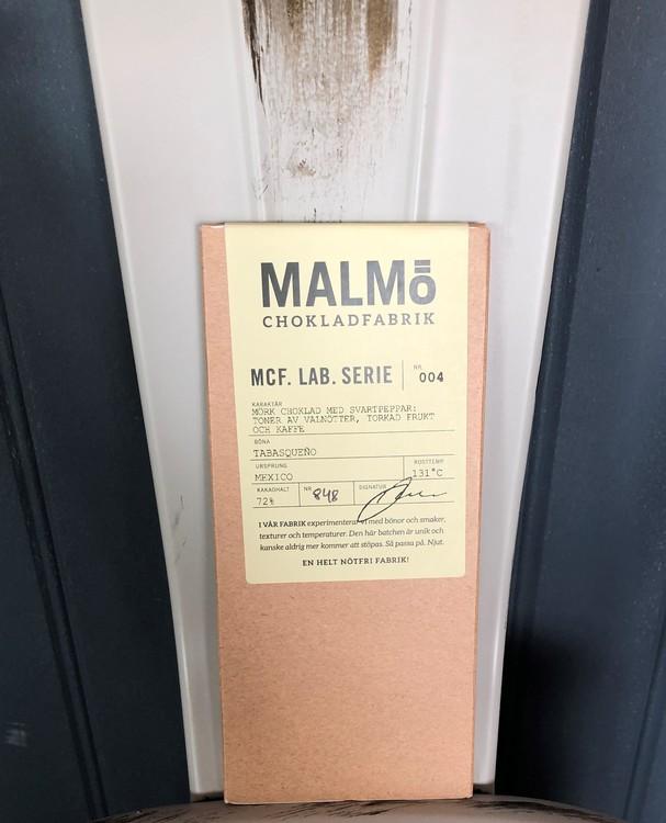 Malmö Chokladfabrik MCF LAB Serie Mexico 72% Ekologisk