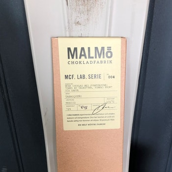 Malmö Chokladfabrik MCF LAB Serie Mexico 72% Ekologisk PASSA PÅ 42KR KORT DATUM