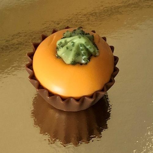 Höstprodukt: Pumpa cupcake karamell med salt (INNEHÅLLER NÖTTER)