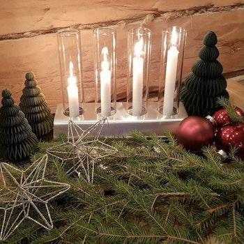 KattvikDesign Ljusstake för fyra ljus Borstad Rostfri Stål