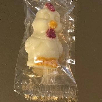 Dekorhöna vit choklad Enstycksförpackad