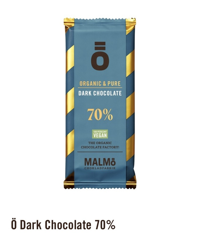 Malmö Choklad: 70% kakaohalt Ekologisk