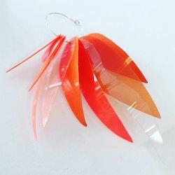 Singelörhänge Clean soda Orange/transp