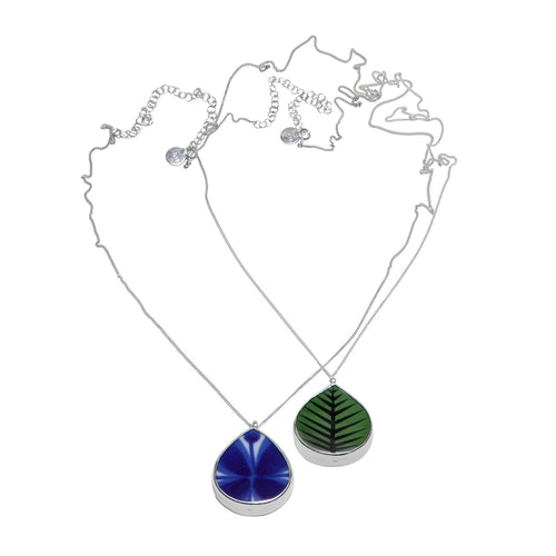 Berså/Mon Amie Duo Necklace - Vändbart porslinshalsband med två motiv