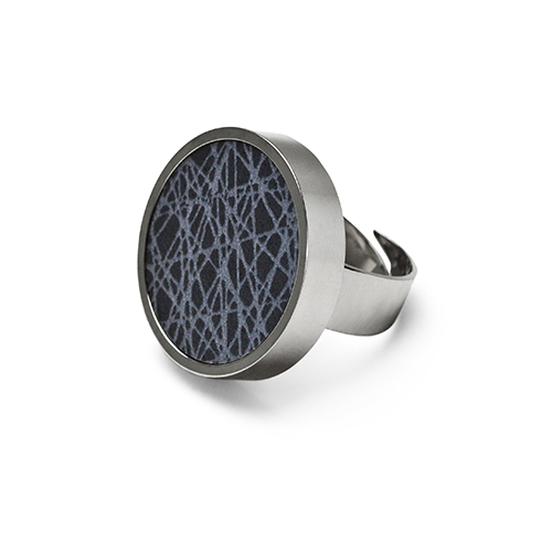 Virrvarr dark grey Ring