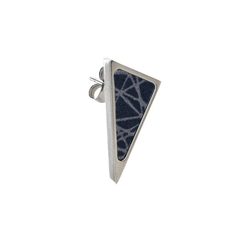 Virrvarr Triangle small dark Earring- singel