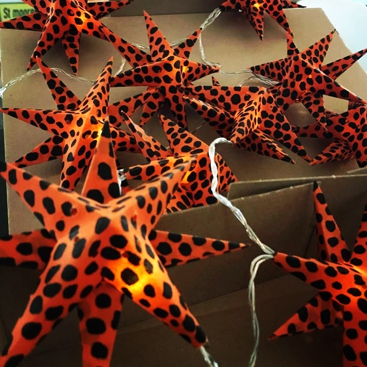 Stjärnslinga orange/svart