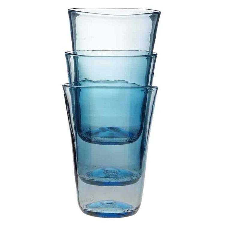 Stapelbart glas ljusblått
