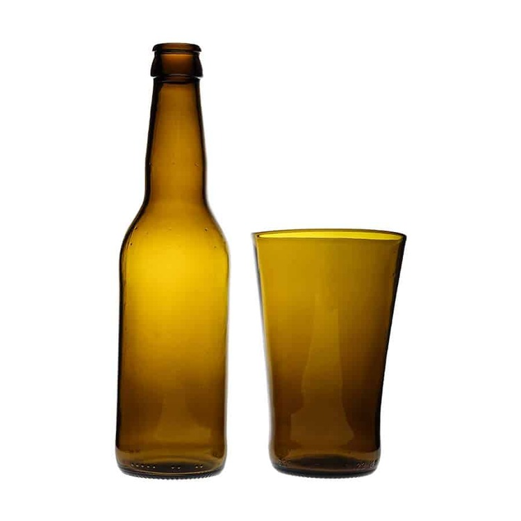 Stapelbart glas brunt