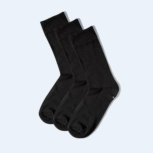 Strumpor bambu höga svarta - 3-pack