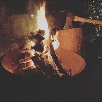 Eldskål i Corten 90 cm