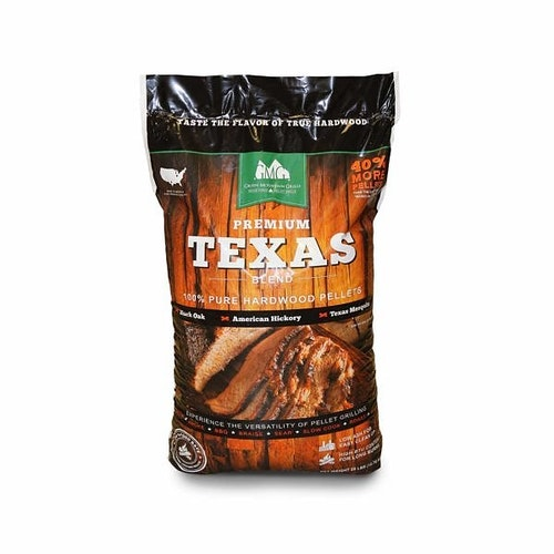 12,7 kg GMG Premium Texas Blend ( Mix av white oak, hickory & mesquite )