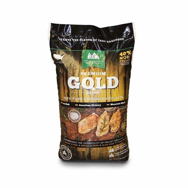 12,7 kg GMG Premium Gold Blend. ( Mix av red oak, hickory, & maple )