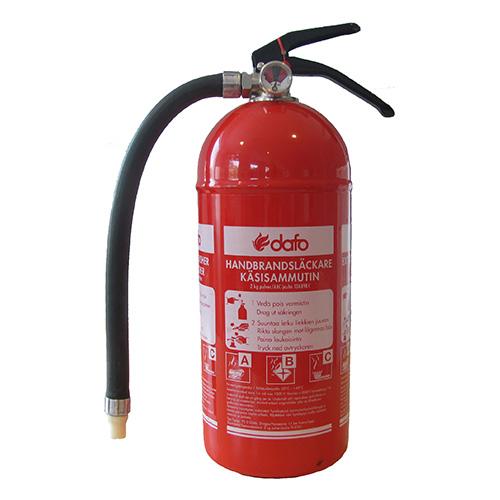 Brandsläckare pulver 2 kg Dafo PD 2 GS ML