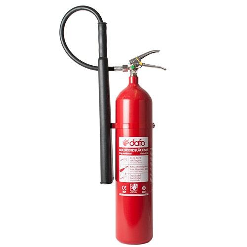 Brandsläckare koldioxid 5 kg Dafo typ KS 5 AM antimagnetisk