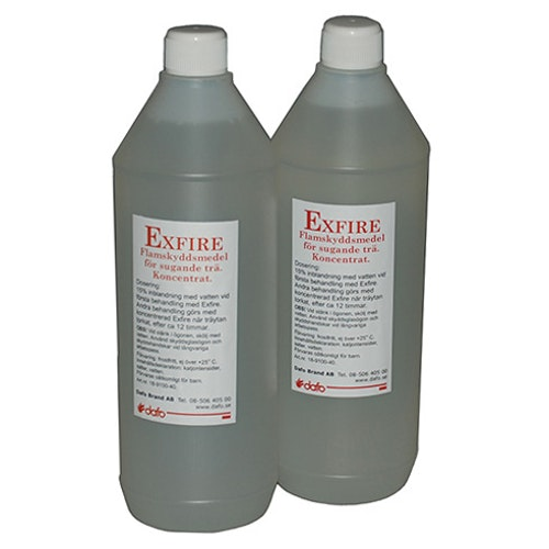 Flamskyddsmedel för trä & bygg 1L flaska