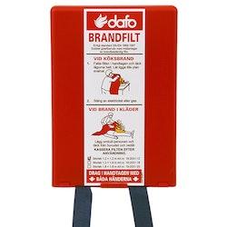 Brandfilt i hårdpack 1,2 × 1,2 m
