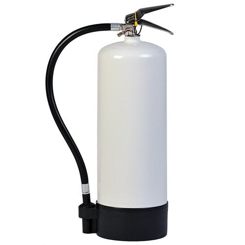 Brandsläckare skum 9 lit med vit behållare