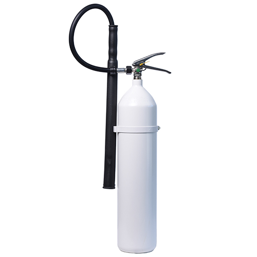 Brandsläckare koldioxid 5 kg vit behållare